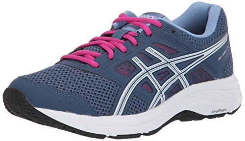 ASICS Women's Gel-Contend 5 Running Shoes, 9.5M, Grand Shark/White