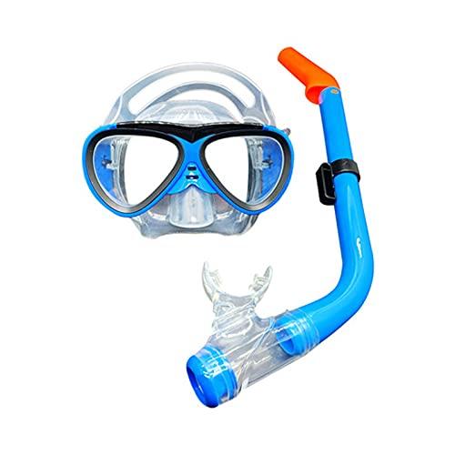 GQTYBZ Juego De Snorkel para NiñOs, MáScara De Buceo Antivaho, Gafas De NatacióN para NiñOs, Equipo De Snorkel con Tubo De RespiracióN para Hombre Y Mujer