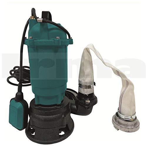 Bomba Sumergible de Aguas Sucias con Trituradora y Flotador - Bomba de Inmersión para Aguas Residuales - 1100W, 15 000L/h, Altura de Impulsiòn máx. 8m