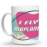 Makoroni - I FLY AIRPLANES 6 oz Ceramic Espresso Shot Mug/Cup Design#74