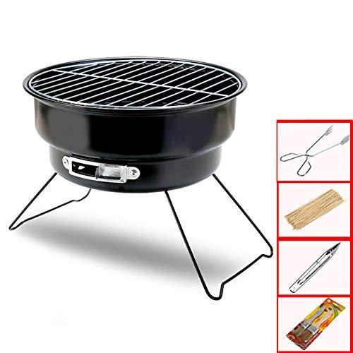 ZYCWBW Barbecue Carbone Portatile Barbecue Grill Barbecue Pieghevole BBQ Griglia in Acciaio Inox Barbecue Portatile con BBQ Clip E Pennello Olio per Picnic Campeggio