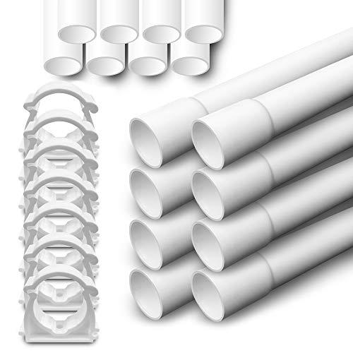Elektrorohr M32 Stangenrohr 10m PVC Leerrohr 20 Klemmschelle ARLI
