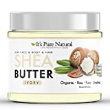 It's Pure Natural - Unrefined Raw Organic African Ivory Shea Butter (16 oz) – 100% Pure & Natural Body Butter for Dry, Cracked Skin, Eczema, Stretch Marks & Anti-Aging – Use on Body, Face, Lips, Hair