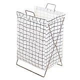 LCSHAN Cesto de Ropa Sucia, cesto de Ropa Sucia, lavandería IKEA, baño, Cubo de Ropa, cesto Plegable Impermeable (Color : White Grid)