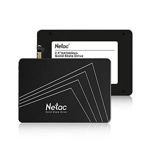 """Netac SSD 128GB, Disco Duro Estado sólido Interna, 3D NAND Flash Unidad, 2.5"""" SATAIII 6Gb/s, hasta 510MB / s con caché SLC para Notebook, Tableta, computadora de Escritorio y PC 4"""