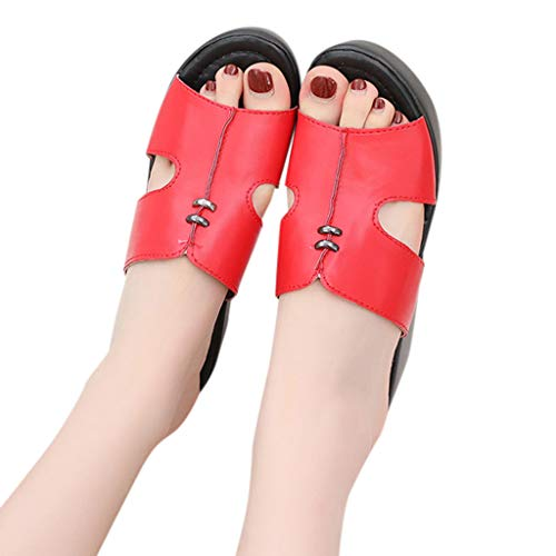 Buy Discount Xinantime Womens Leisure Shoes Platform Wedges Fish Mouth Sandals Thick Bottom Slippers...