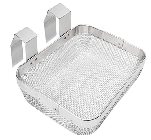 5' x 4' x 1-3/4' Stainless Steel Fine Mesh Ultrasonic Cleaner Jewelry Small Parts Holder Universal Cleaning Basket