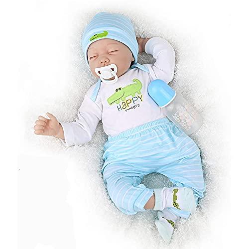 TTWLJJ Muñecas recién Nacidas,Simulación Renacer Muñeca 55Cm 22 Pulgadas Vinilo bebé Dulce niña Bebé Regalo de cumpleaños