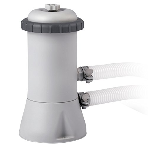 Intex 28604 Krystal Clear Cartridge Filter Pump - Pool Kartuschenfilteranlage - 1,7m3/h, Grau