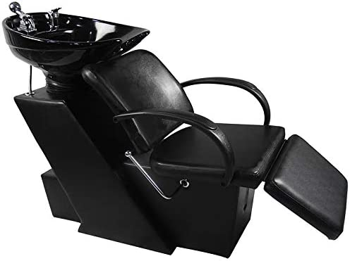wholesale Shampoo Bowl Backwash Barber wholesale Shampoo Station W/Adjustable Footrest Ceramic Bowl Unit W/Rubber Headrest Barber Chair All Purpose Hydraulic Recline Barber Chair Salon Beauty new arrival Spa Equipment outlet online sale