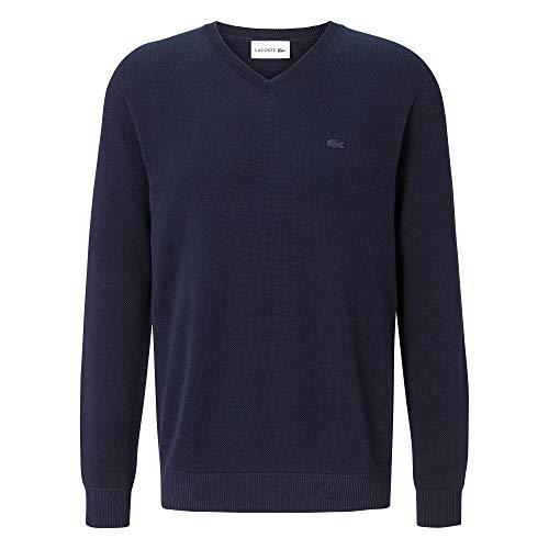 Lacoste heren pullover V-hals AH4090, mannen basic gebreide trui, regular fit