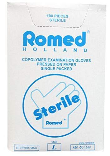 Romed Forschung Handschuh sterile Copolymer L-100pcs