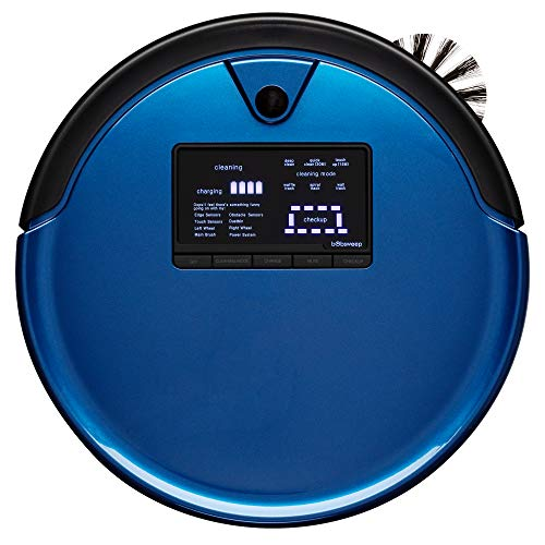 bObsweep PetHair Plus Robotic Vacuum Cleaner and Mop, Cobalt