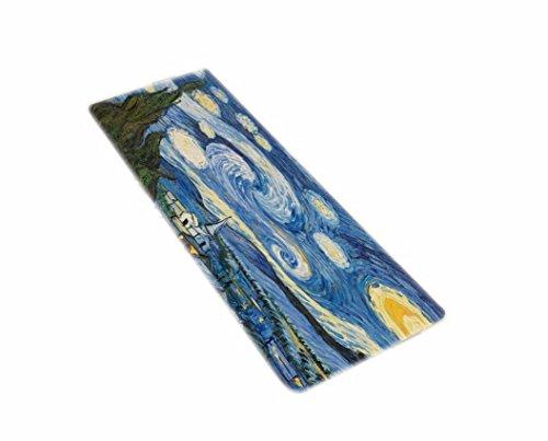 A.Monamour Tapices Decoración del Hogar De Noche Estrellada Vincent Van Gogh Pintura Al Óleo De Arte Franela Suave De Agua Alfombra De Baño Estera para Baño Ducha Accesorios
