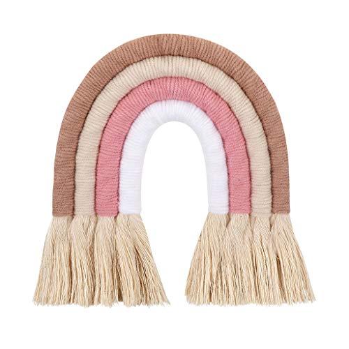 Wenyounge Colgante de Pared de arcoíris Tejido nórdico para habitación de niños, Dormitorio, decoración de habitación, Suministros para Fiestas