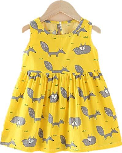 SIMYJOY Girl Toddler Dress Senza Maniche Cute Summer Party Princess Dress Outfits Clothes Costume da Sposa 3-8 Anni