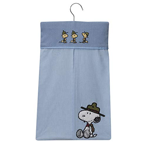 Peanuts Snoopy's Campout 4 Piece Crib Bedding Set, Blue/White