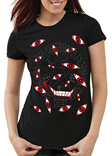 style3 Hellsing Eyes T-Shirt Femme Yeux Vampire Anime Manga, Taille:L