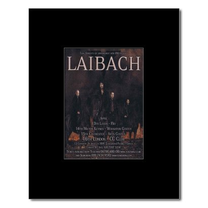 Music Ad World LAIBACH - UK Tour 2007 Matted Mini Poster - 13.5x10cm