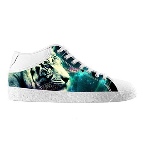 Cheese Noël Heureux Tigre haute qualit ¨ ¤ chaussures Canvas Custom Chukka pour les Homme, EUR 42