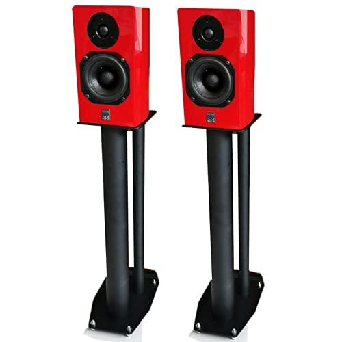 ZAQI Soporte Altavoces Estudio de grabación Cine en casa, Black Metal Elevado Monitores Grandes Pedestal de subwoofer, Hogar Oficina Interior Sala (Size : Tall 0.7cm/2.3 FT)
