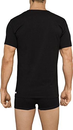 Calvin Klein Men's 2 Pack Cotton Stretch V-Neck T-Shirt, White, Large
