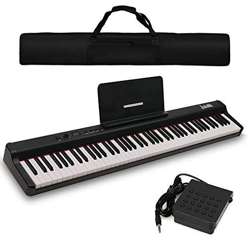Dulcette DX-10 88-Key Portable Piano Keyboard | Dual 25W Speakers | Semi-Weighted...