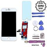 UBaymax Kit de Remplacement Ecran Compatible iPhone 7 Blanc avec Outils Aimantés et LCD Tactile (Compatible iPhone 7 White)