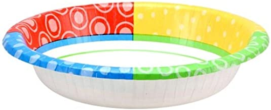 Nicole Home Collection Dazzling Dots Paper Bowl, 20-Ounce 24 count