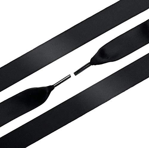 Ringpiont - Schoenveters - satijn - Shiny Black - zwart - Veterlengte 120 cm