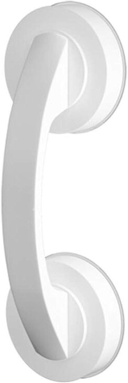 NANNAN Barandilla de Acero Inoxidable Pulido Satinado. Potente Ventosa Manija de bao Soporte para discapacitados y Ancianos sin perforación blancoa Auxiliar de Ducha y apoyabrazos de Seguridad.