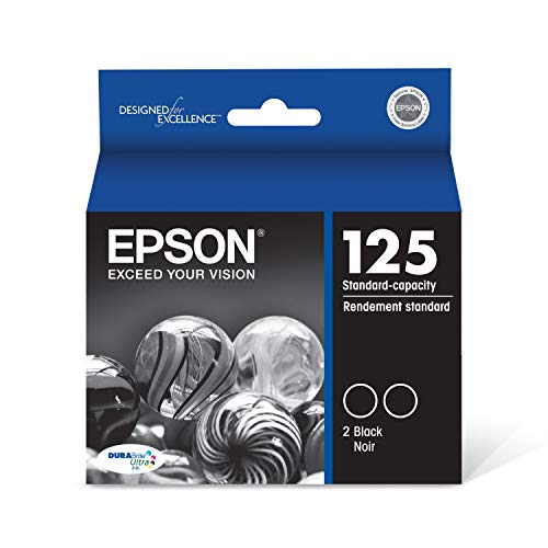 Epson T125120-D2 DURABrite Ultra Black Dual Pack Standard Capacity Cartridge Ink