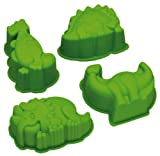 Kitchen Craft Let's Make - Formine per Dolci a Forma di Dinosauri, in Silicone