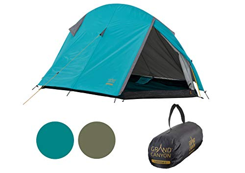 Grand Canyon CARDOVA 1 - tienda de túnel para 1-2 personas - ultraligera, impermeable, tamaño de paquete pequeño - tienda para trekking, camping, outdoor | Blue Grass (azul)