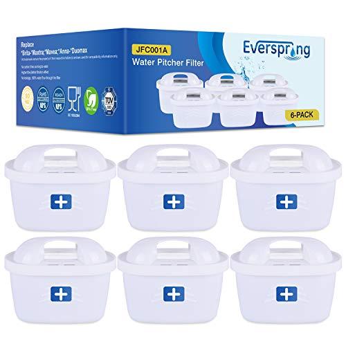 EVERSPRING 6 × Sostituzione Filtro Acqua per Brita Maxtra +, Brita Maxtra, Mavea, Anna Duomax (fattura Disponibile)