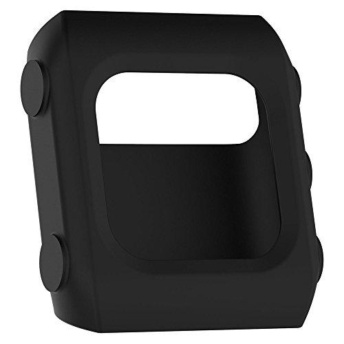Hülle Kompatibel mit Polar V800 Watch Schutzhülle Schutzfolie, Silikon Gehäuse Vollschutz Displayschutzfolie Kratzfest Displayschutz Schutz für Polar V800 Watch (Schwarz)