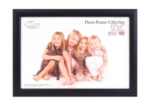 Inov8 Cadre photo Dimensions 30,5 x 20,3 x 1,3 cm Noir cendré Produit traditionnel britannique Lot de 4