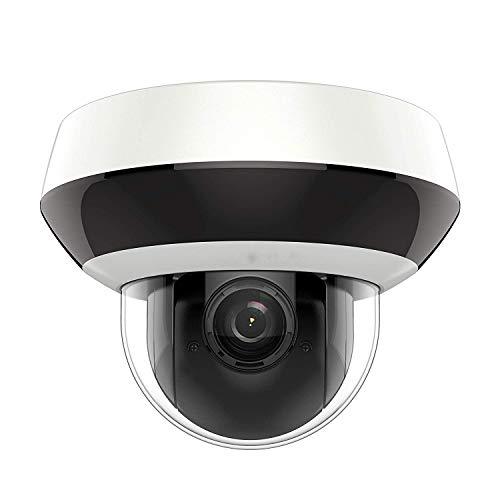 (Compatible con Hikvision) Cámara Domo IP PoE, cámara de Seguridad Anpviz 1080P de 2.8 mm con Lente Gran Angular, inclinación panorámica con Audio, Ranura para Tarjeta SD
