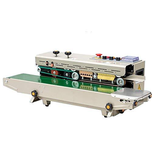 INTSUPERMAI Ink Roller Continuous Film Band Sealing Coding Machine Sealer Automatic PVC Membrane Aluminum Foil Film Plastic Bag Packing (FR-1000 Horizontal)