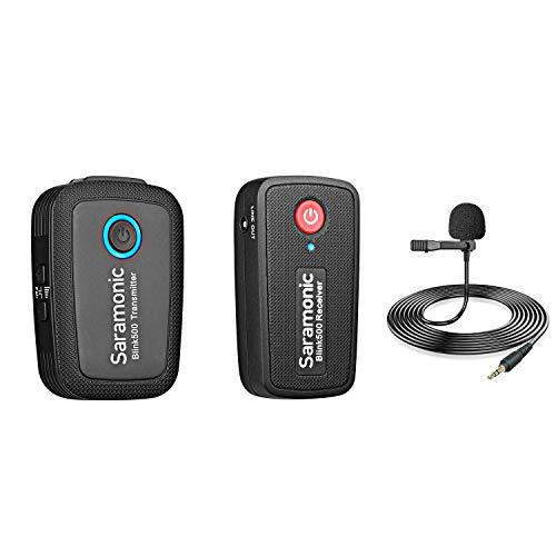 Saramonic Blink 500 B1 Tx+Rx 2.4GHz Micro-Wireless Lavalier System W/Camera-Mountable Dual-Receiver