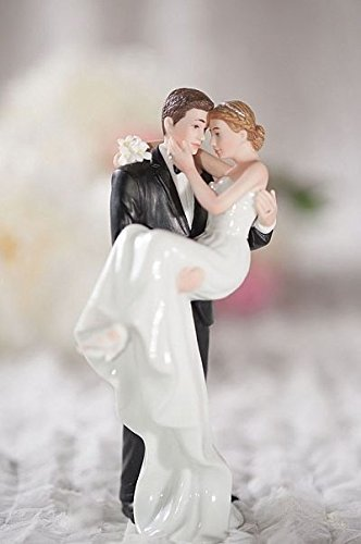 Wedding Collectibles Personalized Groom Holding Bride Traditional Cake Topper Figurine: Custom Hair...
