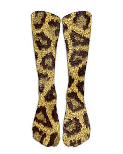 TIANKONG Calcetines Novedosos Leopardo 3 Pares 3D Animal Simulación Arte Mujeres Hombres Creativo Novedad Crew Skateboard Streetwear Colorido Casual Lindo Harajuku Media