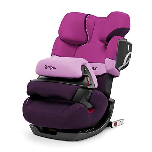 CYBEX Silver 2-in-1 Kinder-Autositz Pallas 2-Fix, Für Autos mit und ohne ISOFIX, Gruppe 1/2/3 (9-36 kg), Ab ca. 9 Monate bis ca. 12 Jahre, Purple Rain