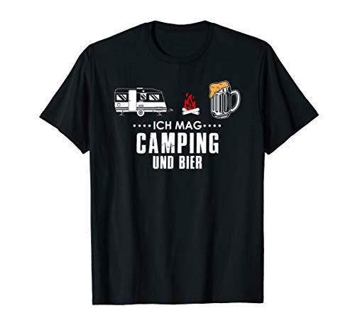 Ich Mag Camping Und Bier Lustiges Camper Biertrinker T-Shirt