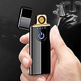 EYUVAA LABEL Premium USB Flameless Cigarette Lighter for Men | Smart Touch Rechargeable Windproof Lighter (Black)