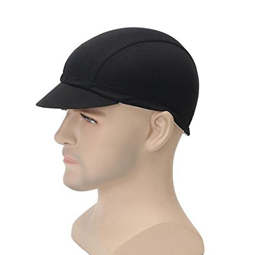 Quanjucheer Unisex Radkappe, atmungsaktiv, einfarbig, Kappe, Herren, Schwarz , Einheitsgröße
