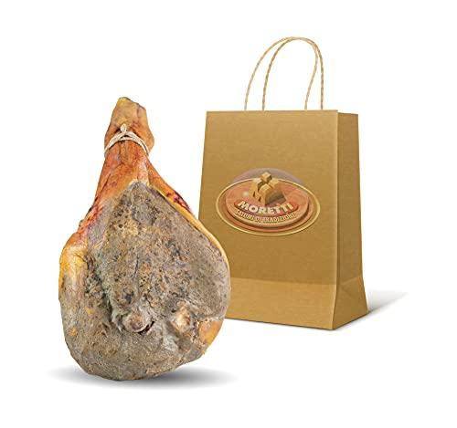 Moretti Prosciutto Crudo Intero | 7kg Circa | Magro Stagionato | 100% Naturale | Senza Conservanti | No OGM | Prodotto In Calabria (Con Osso)