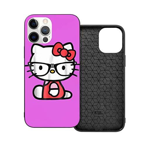 EBVHHS Compatible con iPhone 12/12 Pro Max 12 Mini 11 Pro Max SE X/XS Max XR 8 7 6 6S Plus Funda Hello Kitty Soft TPU Protección Negro