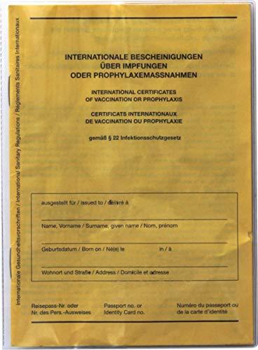 Funda para cartilla de vacunación para el carnet de vacunación internacional en formato: 13 cm de alto x 9,5 cm de ancho, 2 unidades