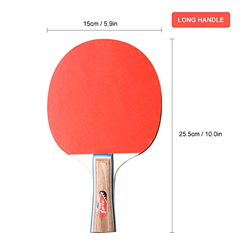 Best Bargain Walled King 1 Pair/Set Table Tennis Bat Racket Double Face Pimples in Long Short Handle...